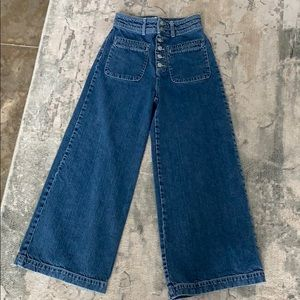Free People Wide-Leg/Flare Jeans Size 27.